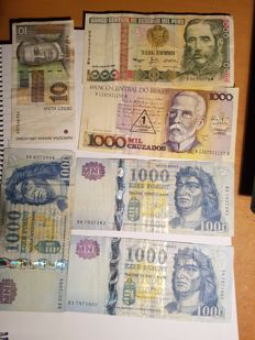 World - 14 banknotes - different countries