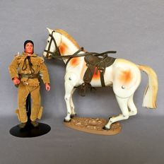 Lone Ranger series action figures Tonto & The Scout horse 1973