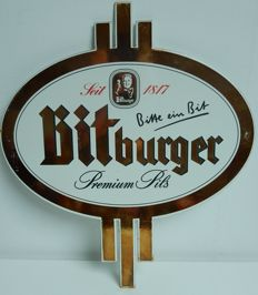 Enamel advertising sign - Bitburg Premium Pils