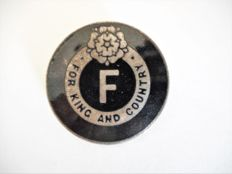 "a RARE British Fascist-League 'For King and Country"" badge - 1930's"