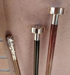 Collection of 3 walking sticks of the early 1900s
