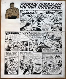 Roylance, Charles - 4.5 Original art pages (Complete story) - Captain Hurricane - (1969)