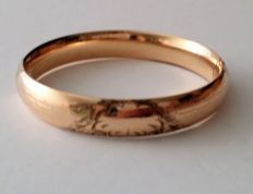 Signed A.A.G. Early 1900's 10kt Rose Gold Filled Bracelet