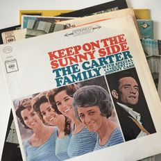 The Carter Family (+ Johnny Cash) classic lot of six USA/UK pressed LPs from the 1960s onwards