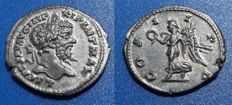 Roman Imperial - Septimius Severus. Rare Denarius circa 198-202 AD, Light iridescent tone and strong bold strike.