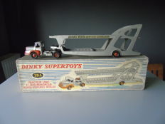Dinky Supertoys-France - Scale 1/48 - Tractor truck Unic and Trailer car transport Boilot No.39A