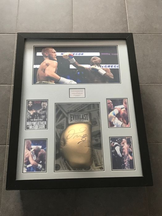 Floyd Mayweather framed and autographed boxing glove with certificate of authenticity