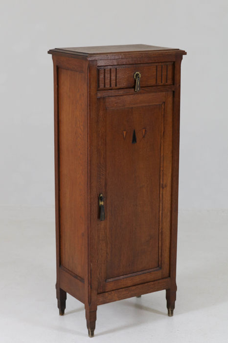 art deco hall cabinet catawiki. Black Bedroom Furniture Sets. Home Design Ideas