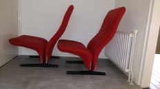 Pierre Paulin for Artifort - 2 Concorde chairs