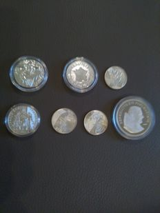 France and Vatican – Lot of 7 coins – Silver.