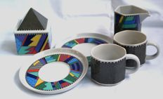"Barbara Brenner for Rosenthal Studio Line-""Scenario Metropol"" Coffee set (cups, milk and sugar)"
