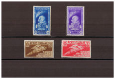 Kingdom of Italy, 1935 - International Aeronautic Salon in Milan - Sassone Nos.  384-387