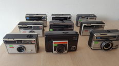 Lot of 9 Kodak cameras