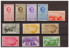 Kingdom of Italy, 1935 - Centenary of the Death of Vincenzo Bellini - Sassone Nos.  388-393 and A90-A94