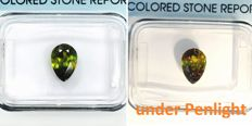 Colour change sphene - 1.16 ct
