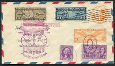 USA  1936 - Airmail Zeppelin (Hindenburg) - First Transatlantic flight New York - Frankfurt am Main - Berlin
