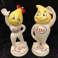Esso Pete, Mr. and Mrs. Drop, heavy cast-iron version