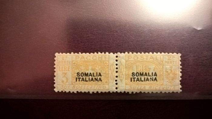 Somalia 1923 - parcel post L.3, yellow, not issued - Sass. N. 13