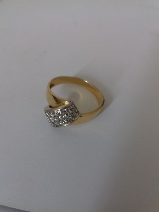 Diamond yellow gold 18k ring