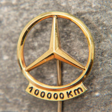 Mercedes Benz 100.000 Km Pin / Brooch 835 Silver Emblem / Logo - No Reserve Price