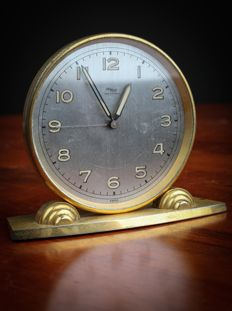 HimHof Art Deco clock/alarm clock, Made in  Switzerland - circa  1950