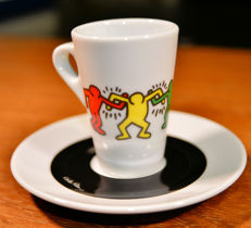 Keith Haring five Espresso Cups with Saucer produced on Original Design by Tognana