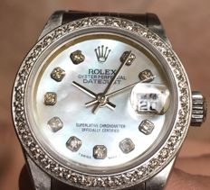 Rolex - Date Just Mother Of Pearl Diamonds Dial and Bazel  - 79174 - Kobieta - 2000-2010