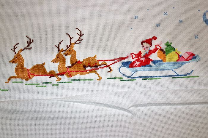 Christmas tablecloth or big hand embroidered tablecloths