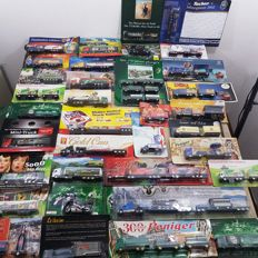 Many brands - scale 1/87 - collection of 65 LongTrucks models: German brewery trucks and advertising trucks/special trucks