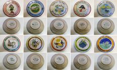 Ceramica Solimene - Vietri - Collection of 10 Buon Ricordo plates