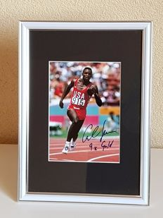 Carl Lewis - 8x World Champion, 9x Olympic gold - hand signed photo Olympics 1984 Los Angeles + COA