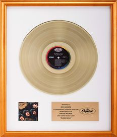 "The Beatles Gold Capitol Records Award - ""Rubber Soul"" - Presented To John Lennon"