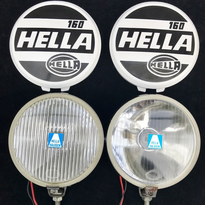 805d4e3f292 Very beautiful set of Hella 160 fog lights 1960s with covers  BMW ...
