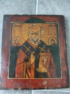 Russian icon Nikolai - second half of the 19th century