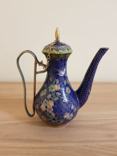 Cloisonné teapot - China - mid 20th century