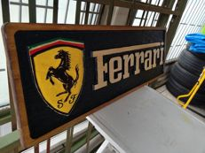 Ferrari  Unique X-Large logo carved in wood - 101 x 34 cm