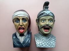 2 x Heavy hand-painted Dutch pharmacist gaper, 1960s-1970s, by Intec B.V. Veenendaal