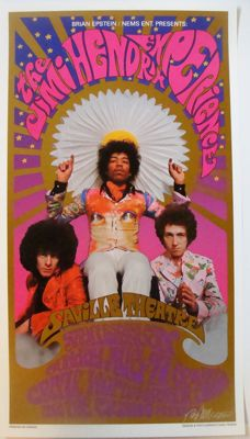 The Jimi Hendrix Experience Poster The Saville London 1966 by Karl Ferris & Bob Masse