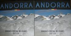 Andorra - year packs euro coins 2014 (2 sets)