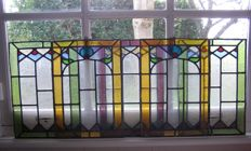 Five Art Nouveau stained glass windows - the Netherlands - circa 1900