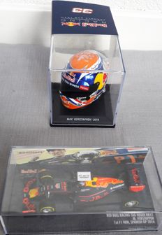 Minichamps - Scale 1/43 - Red Bull RB 12 GP Spanje 2016 - Max Verstappen and a helmet SPA 2016