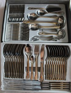 Solingen - SBS - Deluxe cutlery case golden gold 23/24 carat Royal model