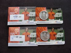 Netherlands - 5 Euro 2017 'Johan Cruijff' 1st day issue (2 pieces) in coin cards