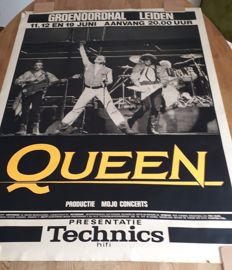 3 Vintage Queen posters - A night at the Opera - 1976 - Live in the  Groenoordhal Leiden - 1986 - No title - 1974
