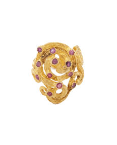 Lalaounis - Very rare ilias Lalaounis handmade ring in 18K yellow gold - Ring size: 60
