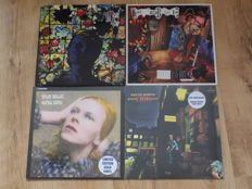 """David Bowie 3 LPS & one 12"""" record includes Hunky Dory and Ziggy Stardust limited edition gold vinyl."""