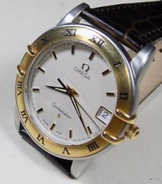 Omega Constellation - Pattern Dial - 18K Gold Bezel - 1990's - Men's Wristwatch