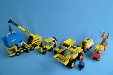 Lego - 6361 + 6481 + 6652 + 6671 + 6686 - Mobile Crane + Light and Sound Construction Crew + Construction Truck and more