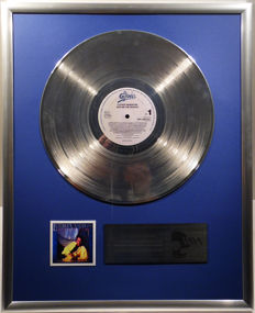"Luther Vandross - Give me the Reason - 12"" Epic Record platinum plated record by WWA Awards"