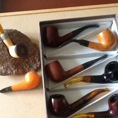 8 new (never been used) tobacco pipes